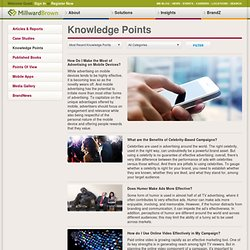 Millward Brown > Knowledge Center > Knowledge Points