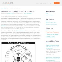 Depth of Knowledge Question Examples - Curriculet
