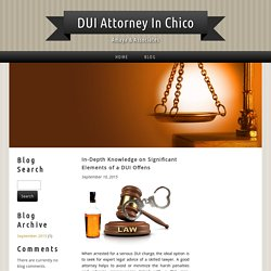 In-Depth Knowledge on Significant Elements of a DUI Offens