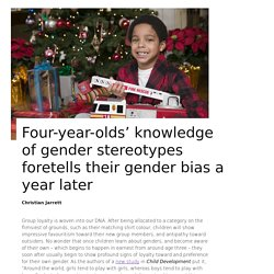 Four-year-olds' knowledge of gender stereotypes foretells their gender bias a year later