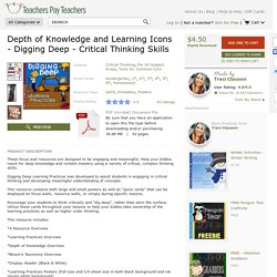 Depth-of-Knowledge-and-Learning-Icons-Digging-Deep-Critical-Thinking-Skills-1448852 Teaching Resources