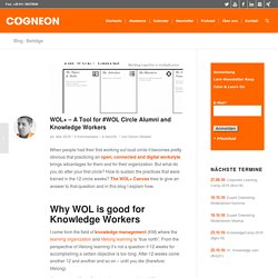 WOL+ – A Tool for #WOL Circle Alumni and Knowledge Workers – Cogneon Akademie