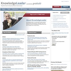 KnowledgeLeader - A Resource for Internal Audit and Risk Management Professionals | KnowledgeLeader: Resources for Internal Audit and Risk Management Professionals