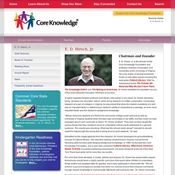 Core Knowledge® Foundation : E. D. Hirsch, Jr.