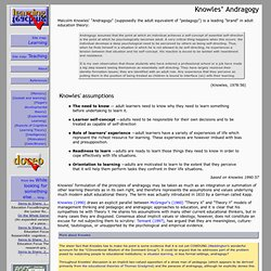Knowles' andragogy: an angle on adult learning