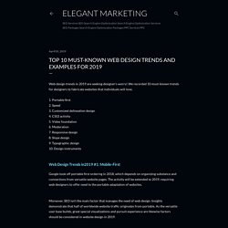 Top 10 Must-Known Web Design Trends and Examples for 2019