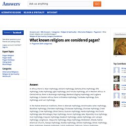 What known religions are considered pagan