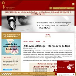 #KnowYourCollege - Dartmouth College » ReachIvy