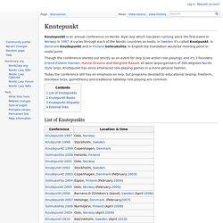 Knutepunkt - Nordic Larp Wiki