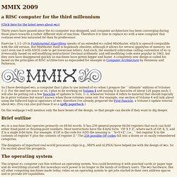 Knuth: MMIX