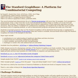 Knuth: The Stanford GraphBase