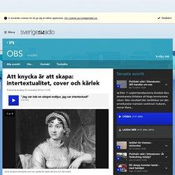 Att knycka är att skapa: intertextualitet, cover och kärlek - OBS