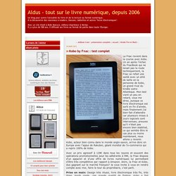 Kobo by Fnac : test complet