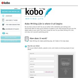 Writing Life – Self-publish eBooks with Kobo