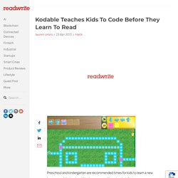 Kodable Teaches Kids To Code Before They Learn To Read