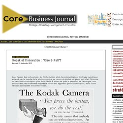"Kodak et l'innovation : ""Rise & Fall""?"