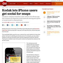 Kodak lets iPhone users get social for snaps | Digital Media