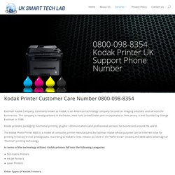 Get Online Technical support for Kodak Printer