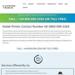 Kodak Printer Phone Number UK 0800-090-3264