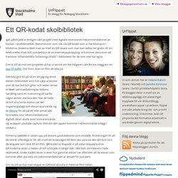 Ett QR-kodat skolbibliotek