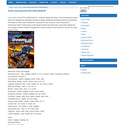Kode cheat downhill PS2 TERLENGKAP