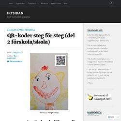 QR-koder steg för steg (del 2 förskola/skola) – IKTsidan