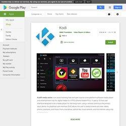 Kodi – Applications Android sur GooglePlay