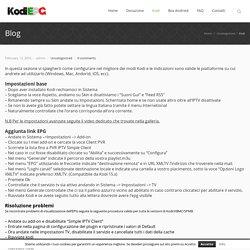 Kodi EPG IPTV