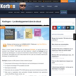 Kodingen – Le développement dans le cloud