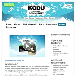 Research FUSE Labs - Kodu Game Lab