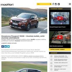 Koeajossa Peugeot 3008 – Unohda kaikki, mitä muistat edeltäjästä