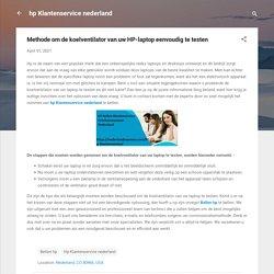 Methode om de koelventilator van uw HP-laptop eenvoudig te testen