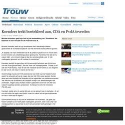 Koenders trekt boetekleed aan, CDA en PvdA tevreden