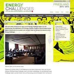 Koepeloverleg Energy Challenges april - Energy Challenges Friesland 2014-2015