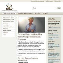 kognitiva nedsättningar och sällsynta diagnoser