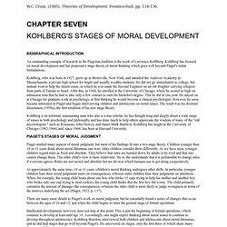 Kohlberg's Moral Stages