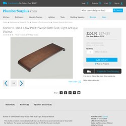 Kohler K-1844-LAW Parity Wood Bath Seat, Light Antique Walnut at PlumberSurplus