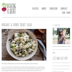 Kohlrabi & Herbed Yogurt Salad