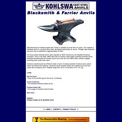 Kohlswa Blacksmith and Farrier anvils
