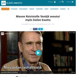 Mauno Koivistolle Venäjä avautui myös kielen kautta