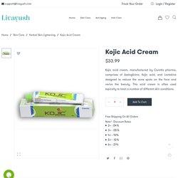 Buy Kojic Acid Cream by Curatio Pharma – Uses, Side Effects