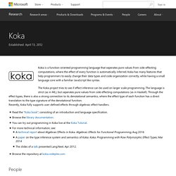 Koka - Microsoft Research