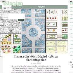 Planera din köksträdgård – gör en planteringsplan – Allt om Trädgård