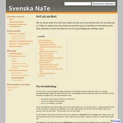 Koll på språket - Svenska NaTe
