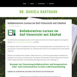 Kollaboratives Lernen im DaF-Unterricht mit EduPad – Dr. Daniela Hartmann