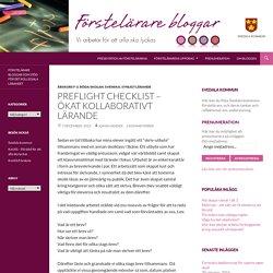 Preflight checklist – ökat kollaborativt lärande