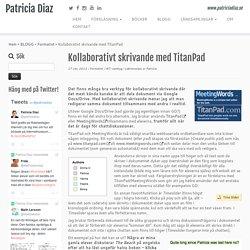 Kollaborativt skrivande med TitanPad