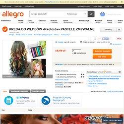 KREDA DO WŁOSÓW -6 kolorów- PASTELE ZMYWALNE (4392975246) - Allegro.pl - Więcej niż aukcje.