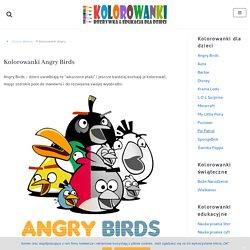 Kolorowanki Angry Birds dla dzieci do druku