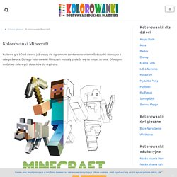 Kolorowanki Minecraft do wydruku